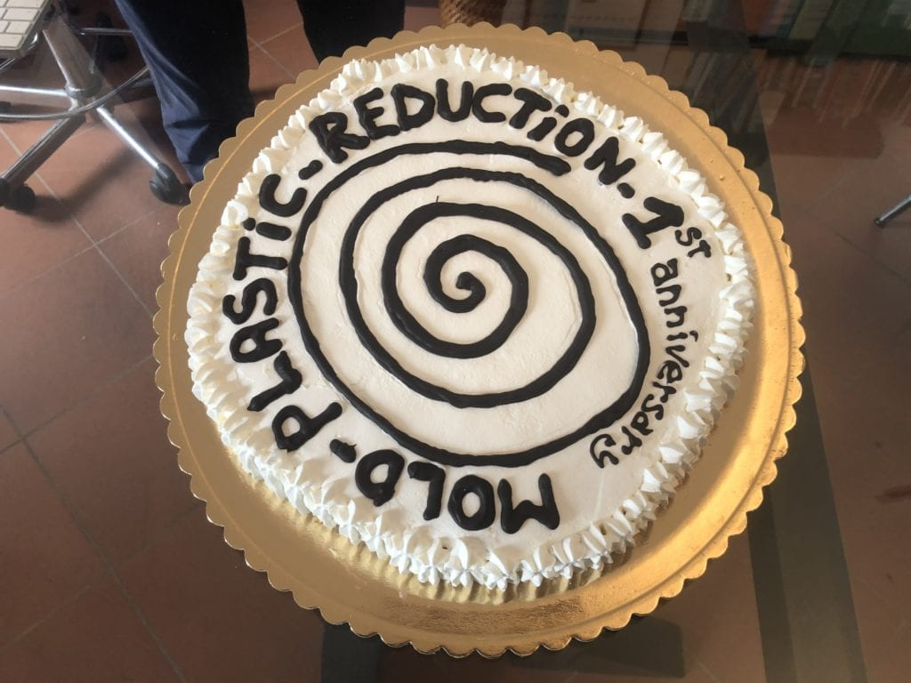 Birthday cake presented by the international Cittaslow movement