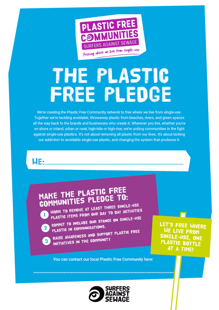 Image of Surfers Against Sewage Plastic Free Pledge