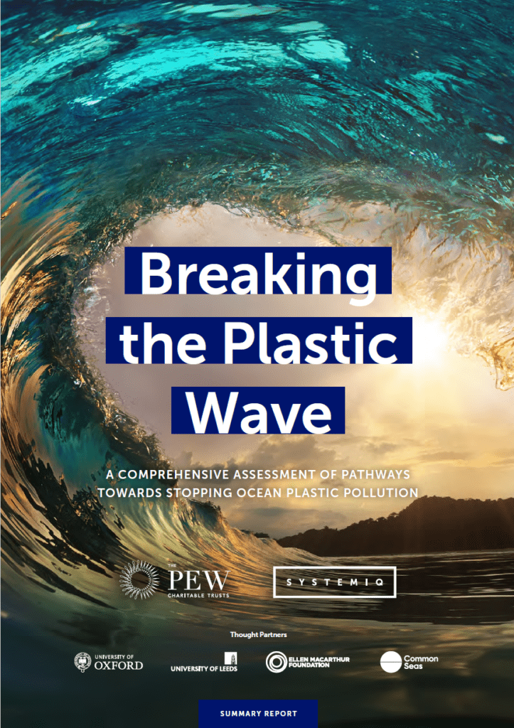 Cover of report Breaking the Plastic Wave