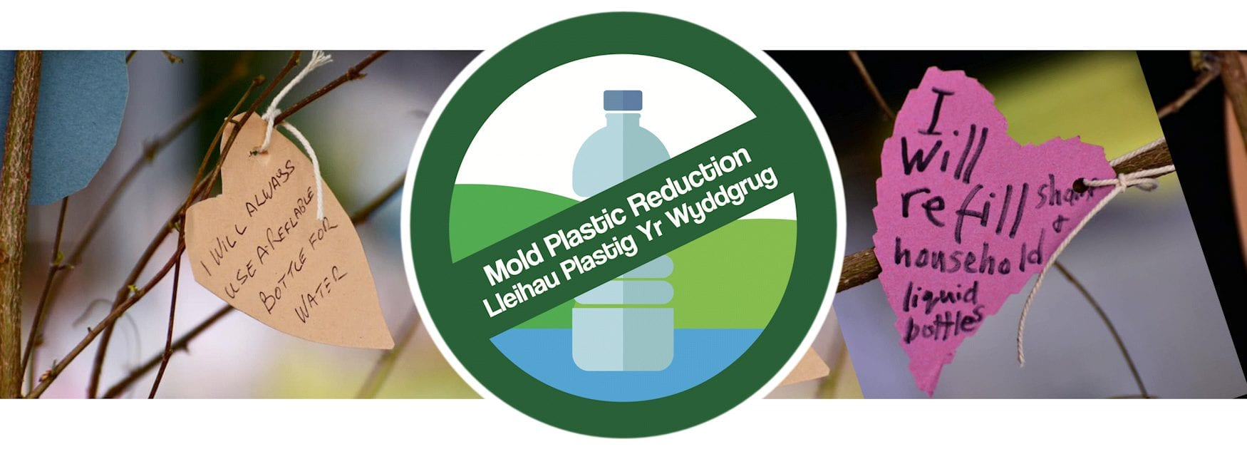 Header image for Household page showing pledges to use less plastic