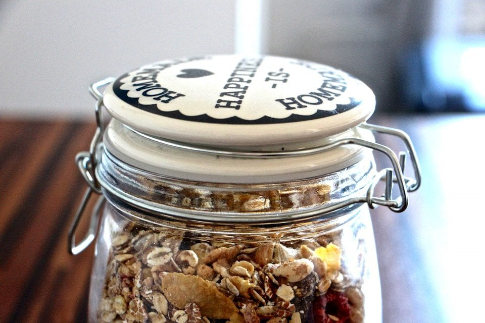 Image of glass jar containing dried fruit