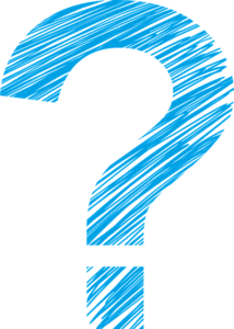 Image of hand drawn blue question mark