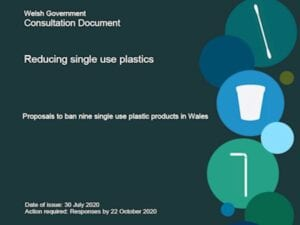 Cover of Welsh Government consultation on reducing single use plastics
