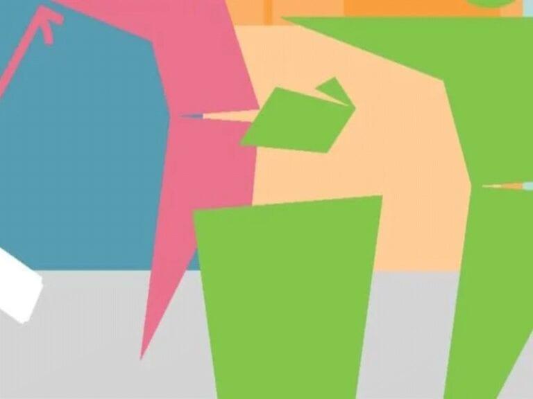 Colourful image based on Autumn Clean Cymru logo