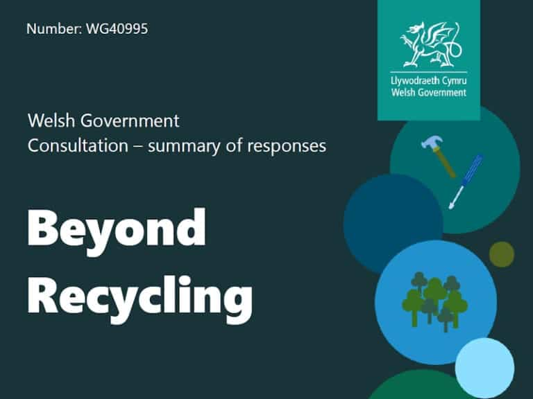 Cover of Welsh Government circular economy consultation - report on outcome