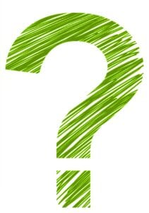 Image of hand drawn green question mark