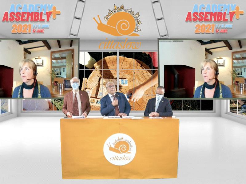 Virtual presentation of Cittaslow Chiocciola Orange 2021 Award.