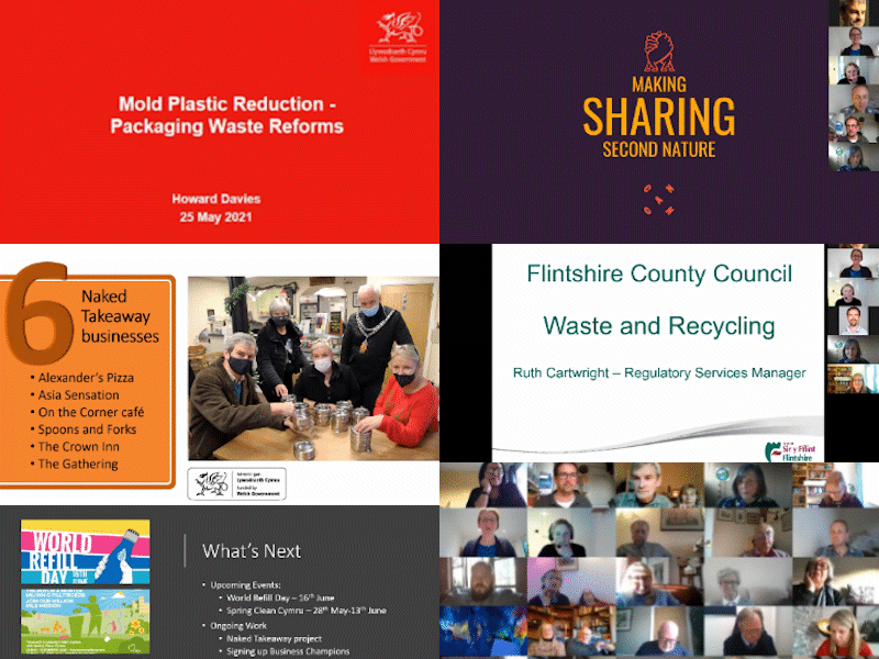 Collage of images promoting Community Conversation event