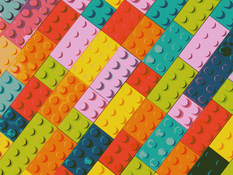 Colourful LEGO bricks