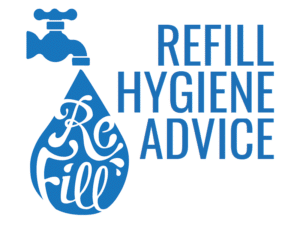 Refill logo alongside the words 'Refill hygiene advice'