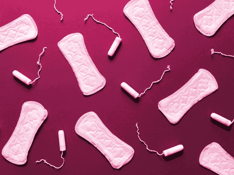 Menstrual pads and tampons.