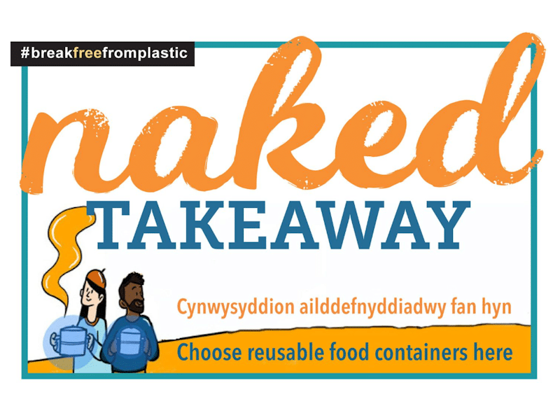 Naked Takeaway promotional flyer.