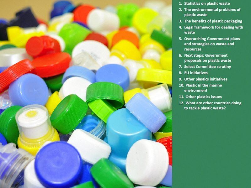 Image of plastic bottle tops