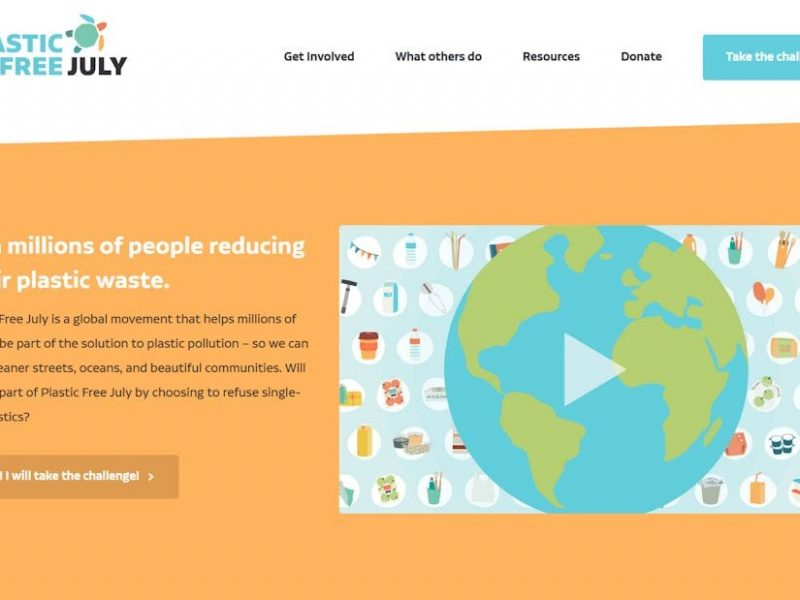 Screenshot of the Plastic Free July website